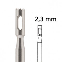 Hollow Drill jagged F224RF Ø 2.3 mm, stainless