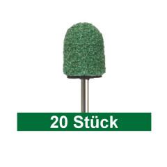 PEDICE Abrasive Caps 10mm extra coarse, green, 20 pieces
