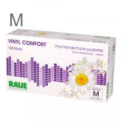 RAUE Vinyl Comfort Gloves, size M, 100 pieces