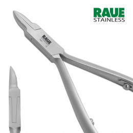 'RAUE Ingrown Nipper 11.5 cm, Flame Point, Rounded Jaw'
