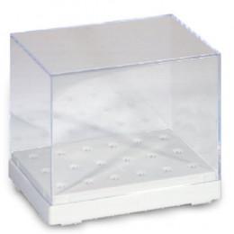 'Drill box, clear 84 x 56 x 71 mm'