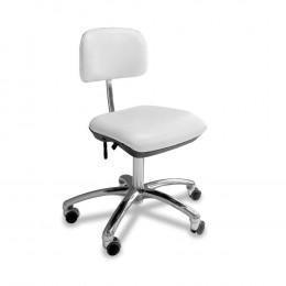 'Stuhl small ohne Armlehne, weiß, Chrom-Fuß'