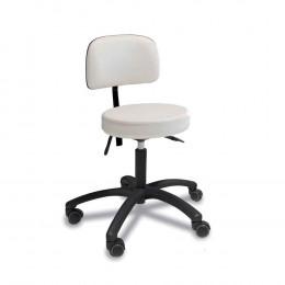 'Stuhl mit rundem Sitz, weiß'
