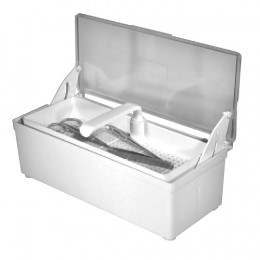'Container for instruments with lid & sieve, 1200 ml'