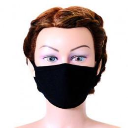 'Mund-Nasenmaske schwarz, waschbar & extraweich'
