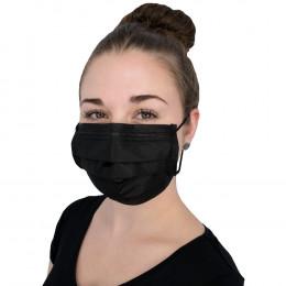 'Disposable face masks, 50 pcs. BLACK'