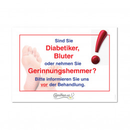 'Warning diabetics'