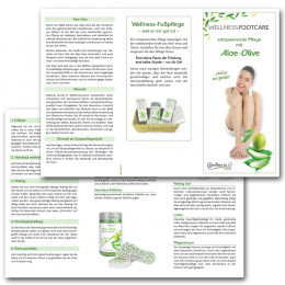 'Aloe-Olive Kundenflyer 25 Stück inkl. Aufsteller'