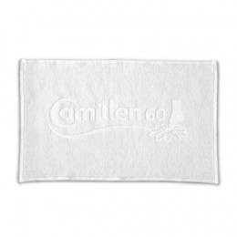 'Terry Towel, white 30x50 cm, with Camillen-Logo'