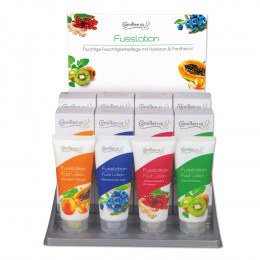 'FOOT LOTION Display 4 x 3 100 ml tubes'