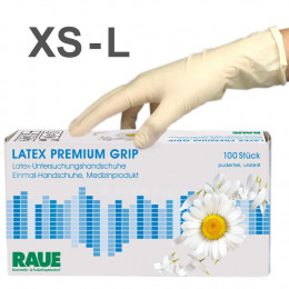 'Latex Premium Grip Gloves 100 pcs'