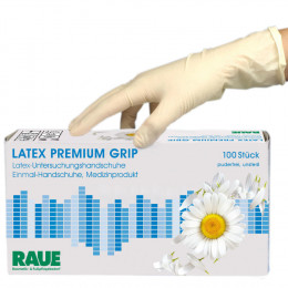 'Latex Premium Grip Gloves 100 pcs'